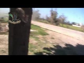 Сирия. Дамаск. Май 2013. Боевики против Русского танка(( не повезло...